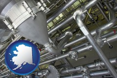 alaska an industrial, stainless steel piping system