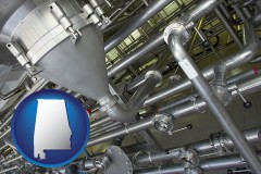 alabama an industrial, stainless steel piping system