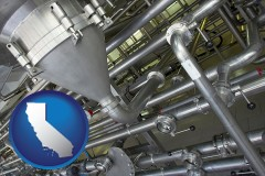 california an industrial, stainless steel piping system