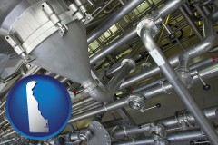 delaware an industrial, stainless steel piping system
