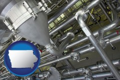 iowa an industrial, stainless steel piping system