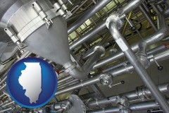 illinois an industrial, stainless steel piping system