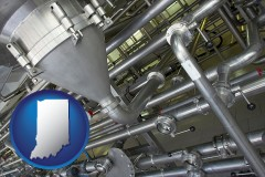 indiana an industrial, stainless steel piping system