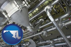 maryland an industrial, stainless steel piping system