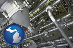 michigan an industrial, stainless steel piping system