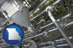missouri an industrial, stainless steel piping system