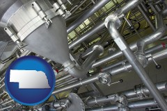 nebraska an industrial, stainless steel piping system