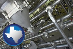 texas an industrial, stainless steel piping system