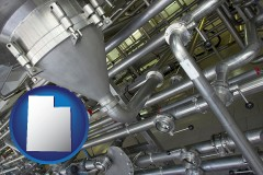 utah an industrial, stainless steel piping system