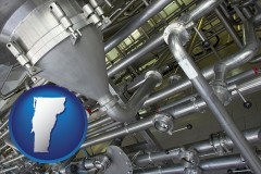 vermont an industrial, stainless steel piping system