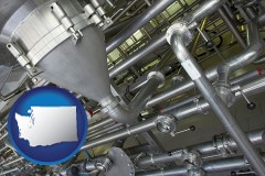 washington an industrial, stainless steel piping system
